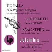 De Falla: Suite populaire espagnole - Hindemith: Sonata (1940) von Isaac Stern