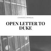 Open Letter to Duke de Charles Mingus