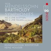 Mendelssohn: Symphonies No. 3 & 4 de Heinz Holliger
