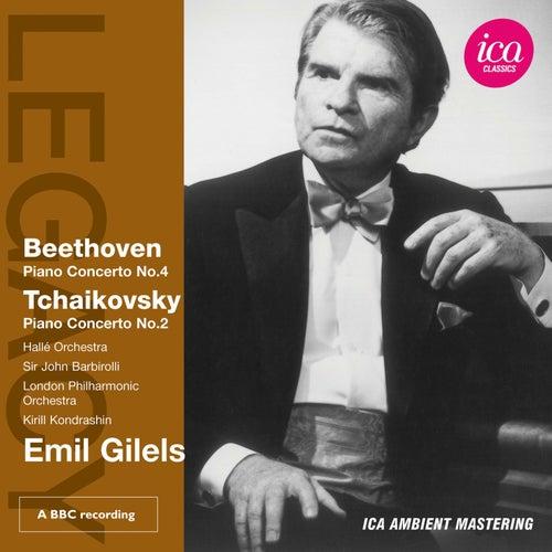 Beethoven: Piano Concerto No. 4 - Tchaikovsky: Piano Concerto No. 2 by Emil Gilels