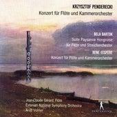 Penderecki, Eespere & Bartók: Flute Concertos by Jean-Claude Gérard