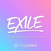 exile (Piano Karaoke Instrumentals) by Sing2Piano (1)
