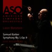 Barber: Symphony No. 1, Op. 9 by American Symphony Orchestra