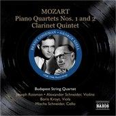 Mozart: Piano Quartets Nos. 1 and 2 / Clarinet Quintet (Szell, Goodman, Budapest Qt) (1938, 1946) by Various Artists