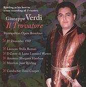 Verdi: Il trovatore (Metropolitan Opera Broadcast) de Jussi Bjorling