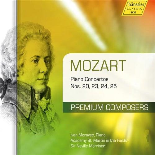 Mozart: Piano Concertos Nos. 20, 23, 24, 25 by Ivan Moravec