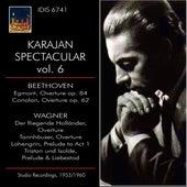 KARAJAN SPECTACLAR VOL VI BEETHOVEN & WAGNER Studio Recordings 1953 - 1960 by Herbert Von Karajan