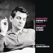 Dvorak: Symphony No. 7 in D minor, op. 70; Franck: Symphony in D minor by Leonard Bernstein