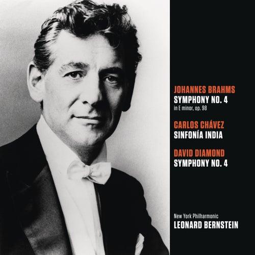 Brahms: Symphony No. 4 in E minor, op. 98; Chávez: Sinfonía India (Symphony No. 2); Diamond: Symphony No. 4 by Leonard Bernstein