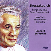 Shostakovich: Symphony No. 5 and Piano Concerto No. 2 de Leonard Bernstein