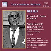 Delius: Violin Concerto / Piano Concerto / Eventyr / A Song Before Sunrise by Various Artists