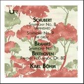 Schubert: Symphony Nos. 8 & 9 - Brahms: Symphony No. 1 (Live) by Vienna Philharmonic
