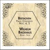 Beethoven: Piano Concertos Nos. 4 & 5 de Wilhelm Backhaus