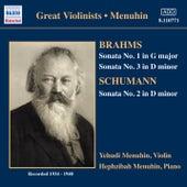 Brahms / Schumann: Violin Sonatas (Menuhin) (1934-1940) by Yehudi Menuhin