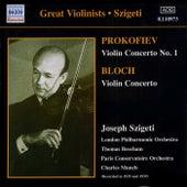 Prokofiev / Bloch: Violin Concertos (Szigeti) (1935, 1939) by Joseph Szigeti