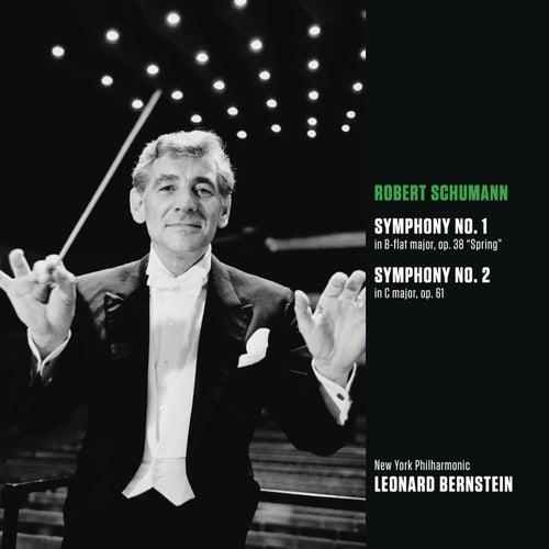 Schumann: Symphony No. 1 in B-flat major, op. 38 'Spring'; Symphony No. 2 in C major, op. 61 by Leonard Bernstein