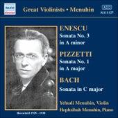 Bach, J.S. / Enescu / Pizzetti: Violin Sonatas (Menuhin) (1929, 1936, 1938) by Yehudi Menuhin
