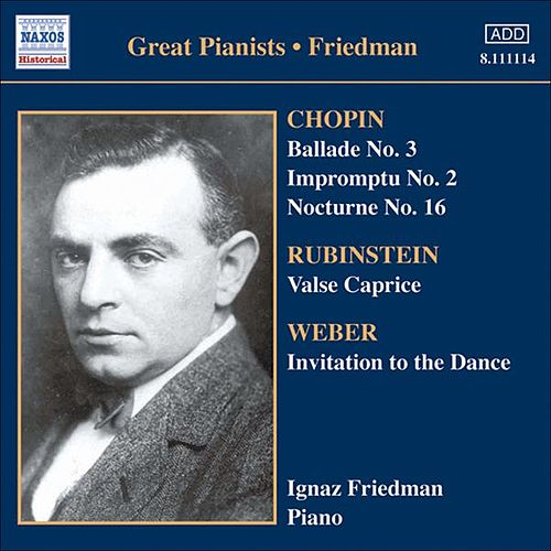 Friedman, Ignaz: Complete Recordings, Vol. 5: English Columbia Recordings (1933-1936) by Ignaz Friedman