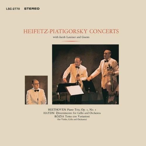 Beethoven: Trio, Op. 1, No. 1, In E-Flat, Rozsa: Sinfonia Concertante, Op. 29, Tema Con Variazioni by Jascha Heifetz