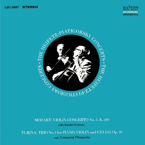 Mozart: Violin Concerto No. 5, K.219, in A 'Turkish', Turina: Piano Trio No. 1, Op. 35 by Jascha Heifetz