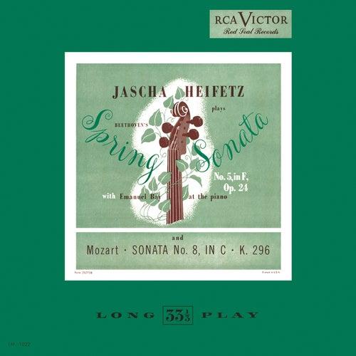 Beethoven: Sonata No. 5, Op. 24 'Spring' in F; Mozart: Sonata No. 8, in C, K 296 by Jascha Heifetz