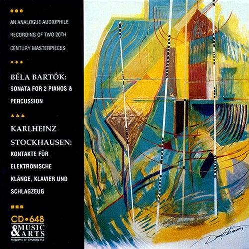 Bartok: Sonata for 2 Pianos & Percussion - Stockhausen: Kontakte (version for piano, percussion and 4-track tape), Work No. 12 1/2 by Steven Schick