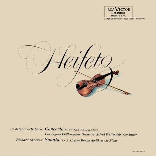 Tedesco: Violin Concerto No. 2, Op. 66 'I profeti', Strauss: Sonata, Op. 18, in E-Flat by Jascha Heifetz