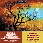 Mozart & R. Schumann: Piano Concertos de Arturo Benedetti Michelangeli