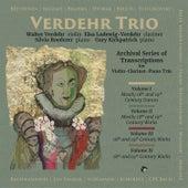 Archival Series of Transcriptions for Violin-Clarinet-Piano Trio von Verdehr Trio