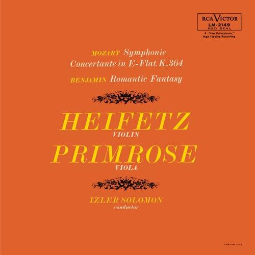 Mozart: Sinfonia concertante in E-Flat, K.364, Benjamin: Romantic Fantasy by Jascha Heifetz