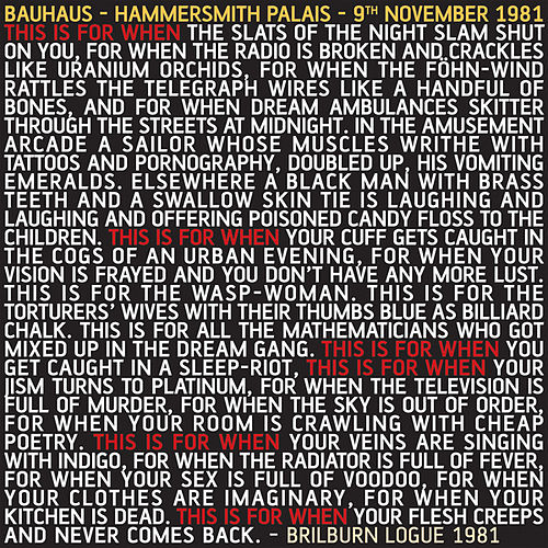 This Is For When (Hammersmith Palais - 9th November 1981) by Bauhaus