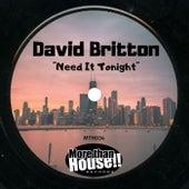 Need It Tonight de David Britton
