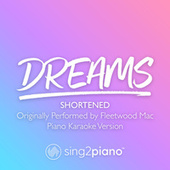 Dreams (Shortened) [Originally Performed by Fleetwood Mac] (Piano Karaoke Version) von Sing2Piano (1)