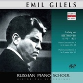 Beethoven: Piano Concertos Nos. 1 & 4 by Emil Gilels