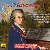 Mozart: Horn Concertos Nos. 2 & 3, Horn Quintet, K. 407 & Other Works von Cologne New Philharmonic Orchestra