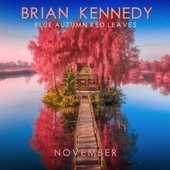 Blue Autumn Red Leaves von Brian Kennedy