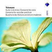 Telemann : Suite in A minor, Concertos in E minor & G major & Overture des Nations de Frans Brüggen, André Rieu, Franz Vester, Gustav Leonhardt, Paul Doctor, Chamber Orchestra of Amsterdam, Concerto Amsterdam, Südwestdeutsches Kammerorchester,