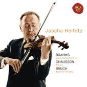 Brahms: Violin Concerto in D; Chausson: Poeme; Bruch: Scottish Fantasy de Jascha Heifetz