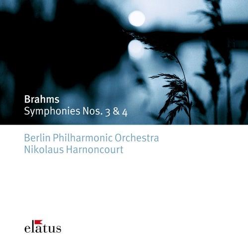 Brahms : Symphonies Nos 3 & 4 by Nikolaus Harnoncourt