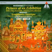 Mussorgsky/Gortchakov : Pictures at an Exhibition & Prokofiev : Classical Symphony de Kurt Masur
