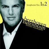 Beethoven : Symphonies Nos 1 & 2 by Daniel Barenboim