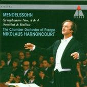 Mendelssohn : Symphonies Nos 3 & 4 by Nikolaus Harnoncourt