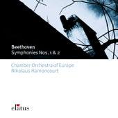 Beethoven : Symphonies Nos 1 & 2 von Nikolaus Harnoncourt