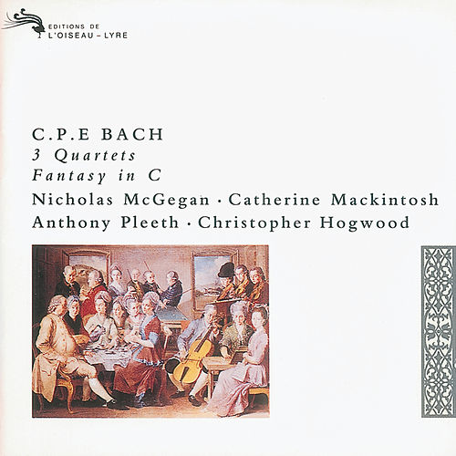 Bach, C.P.E.: 3 Quartets; Fantasy in C by Nicholas McGegan