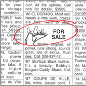 For Sale by Jr. Cadillac