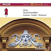 Mozart: Arias, Vocal Ensembles & Canons - Vol.3 by Various Artists