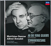 Schubert: Schwanengesang/Beethoven: An die Ferne Geliebte by Matthias Goerne