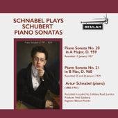 Schnabel Pays Schubert Piano Sonatas by Artur Schnabel