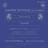 Brahms: Piano Quartet No. 3, Op. 60 & Piano Trio No. 2, Op. 87 by Joseph Szigeti