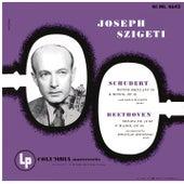 Schubert: Rondo for Violin and Piano, D. 895 & Violin Sonata in A Major, D. 574 - Beethoven: Violin Sonata No. 10, Op. 96 by Joseph Szigeti